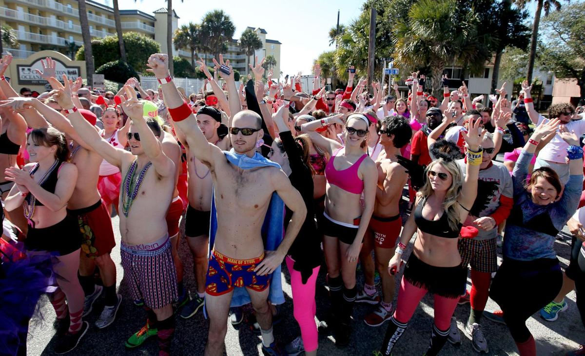 Valentine's Day gets sporty with runs, yoga, rope climbs