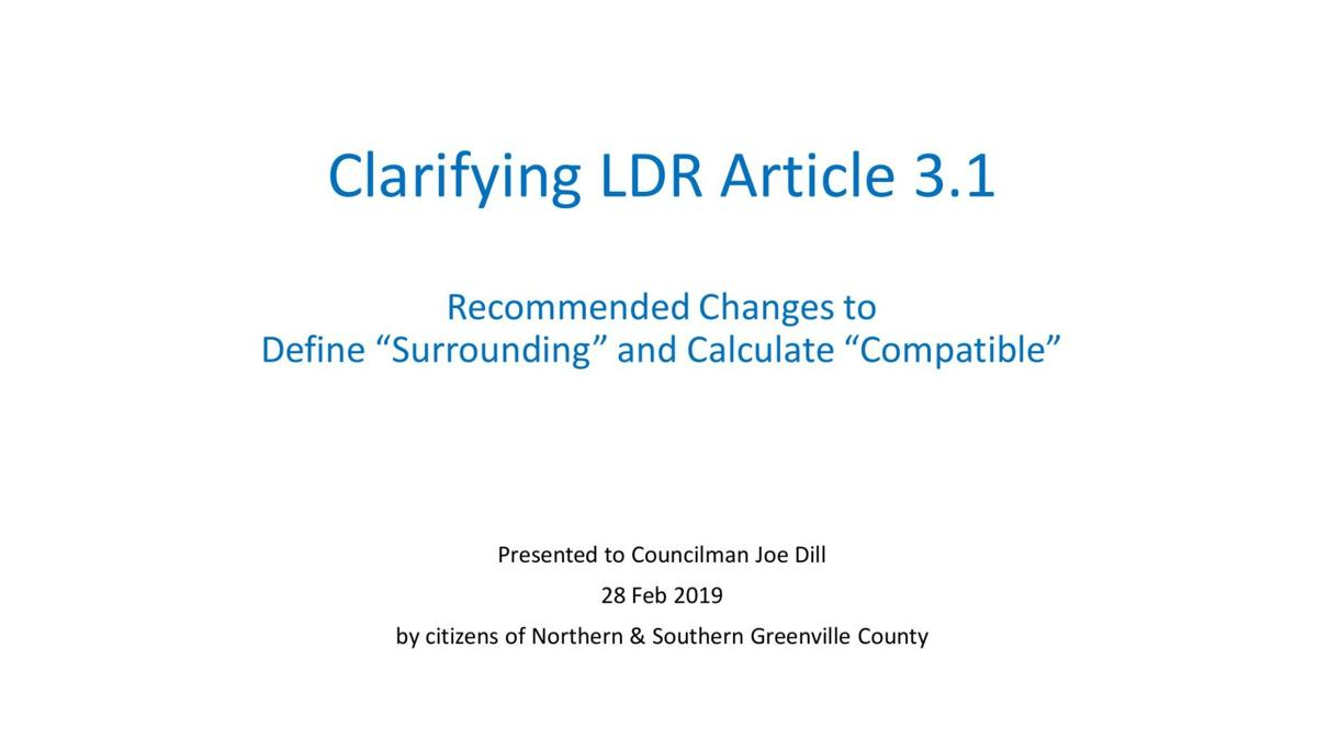 Citizen's Group Article 3.1 density clarification