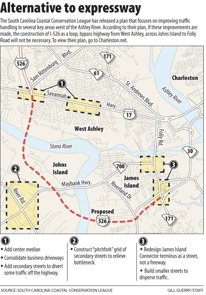 Proposal rules out extended highway on I-526