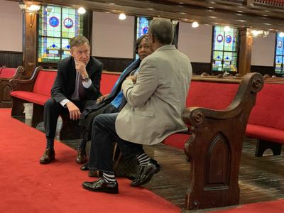 John Hickenlooper calls for more help for mass shooting survivors after Emanuel AME visit