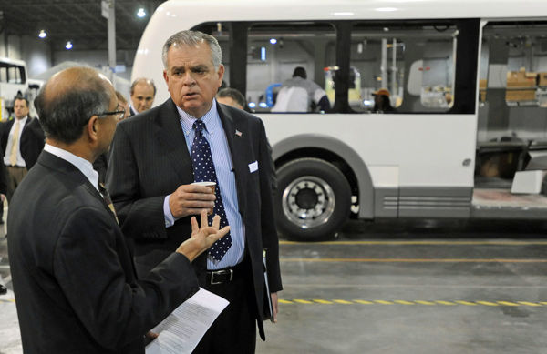 Plant rolls out electric bus