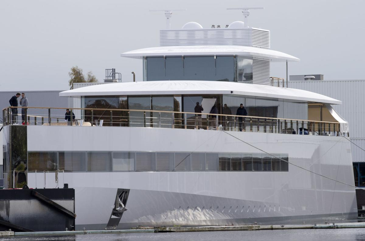 A 256-foot yacht commissioned by Steve Jobs is launched