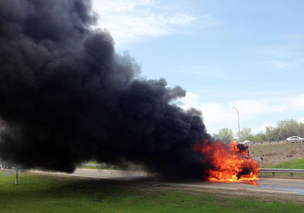 Minnesota school bus catches fire; no one hurt