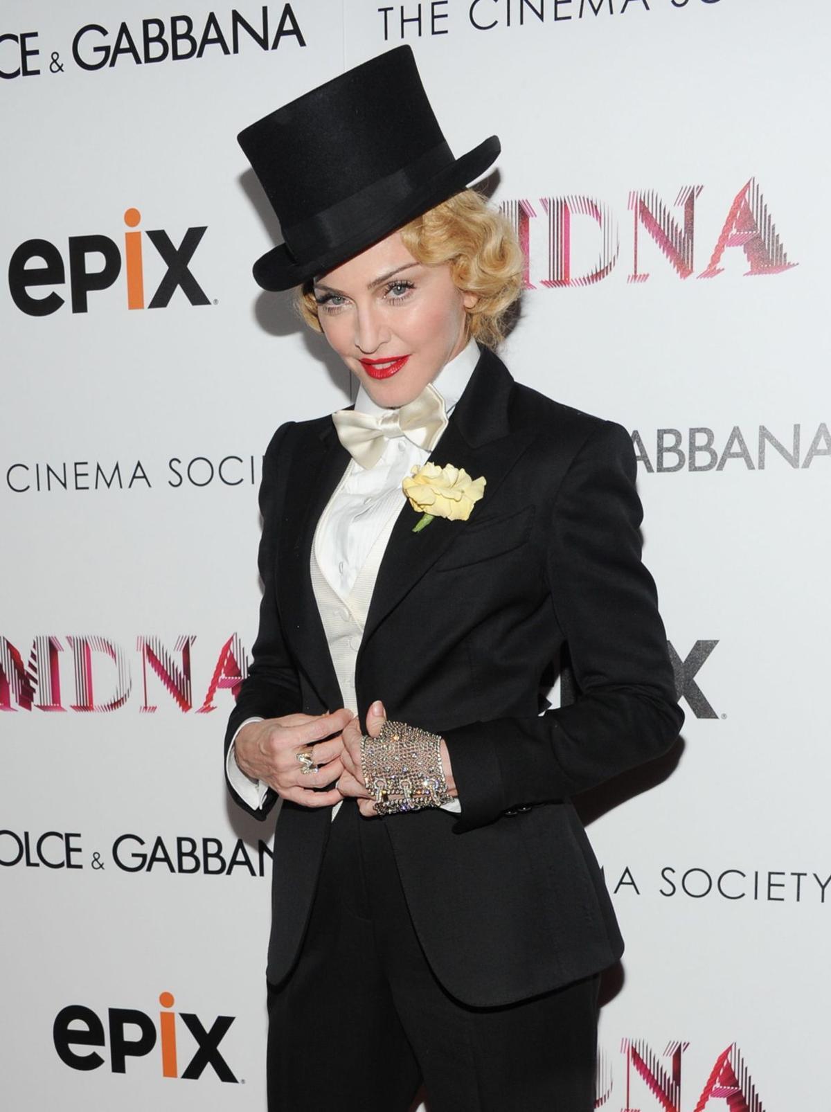 Madonna premieres tour film, talks secret project