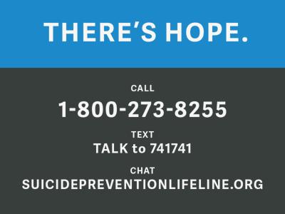Suicide Prevention Graphic