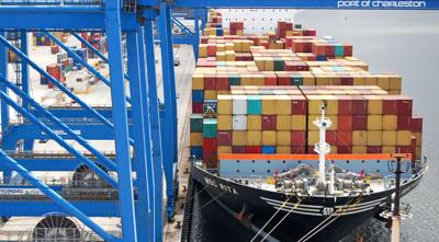 Big ships drive port business up 9%