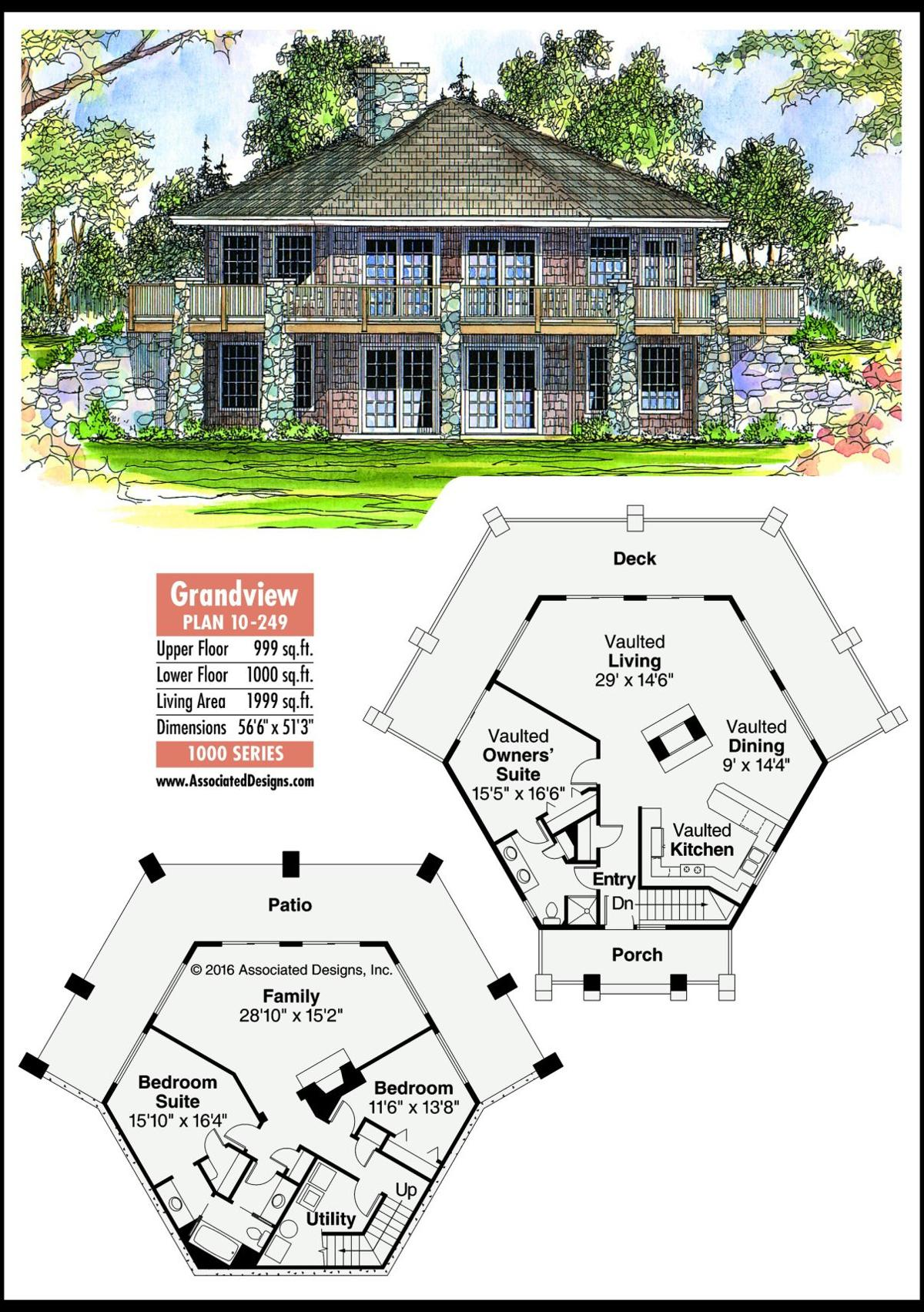 This week's house plan Grandview 10-249