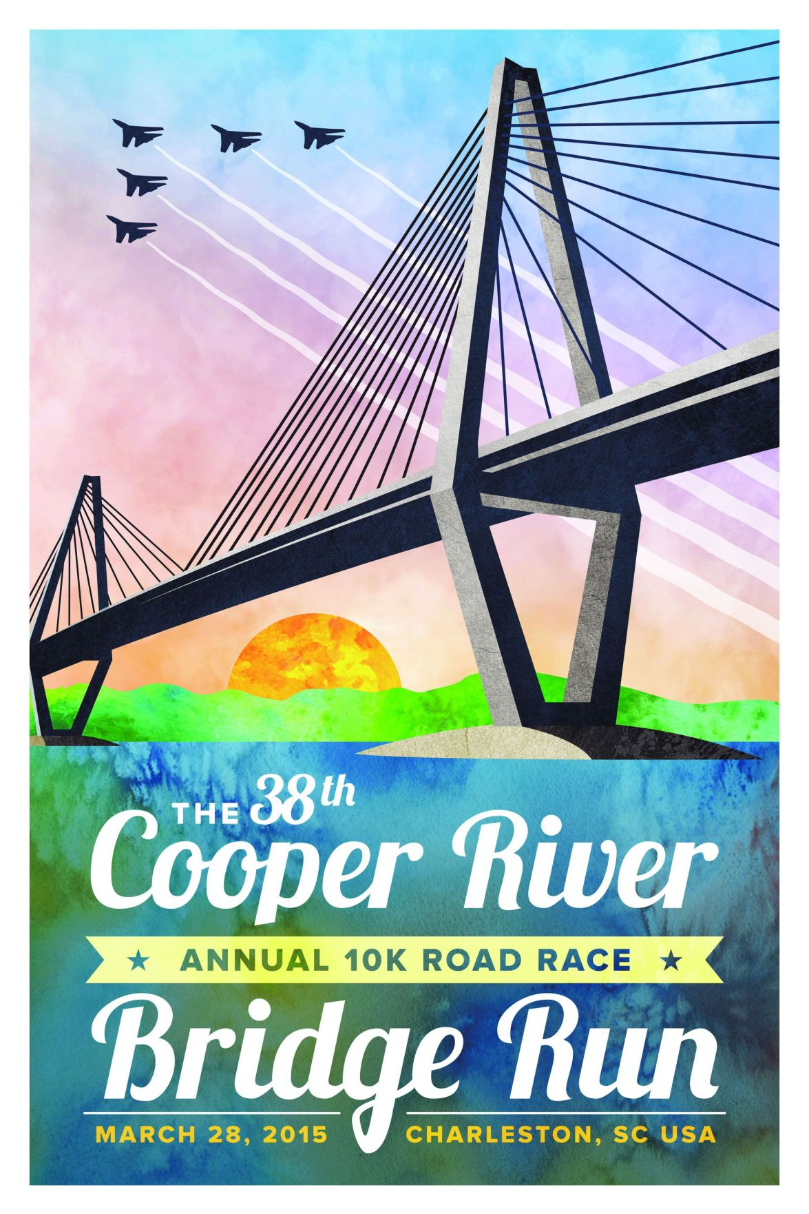 Cooper River Bridge Run design for 2015 is unveiled, features fighter jets