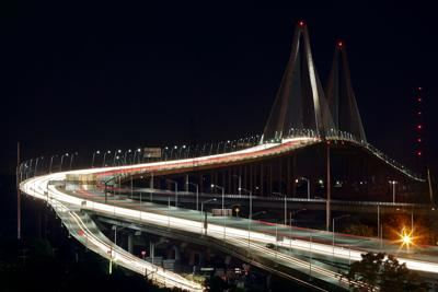 Night Arthur Ravenel Jr. Bridge (copy)