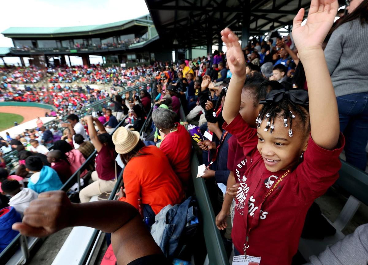 School kids come out for Charleston RiverDogs