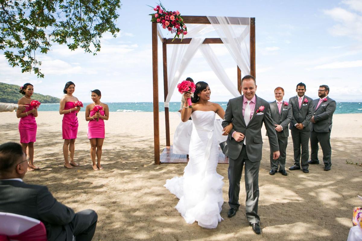 Destination wedding dress: Formal or footloose?