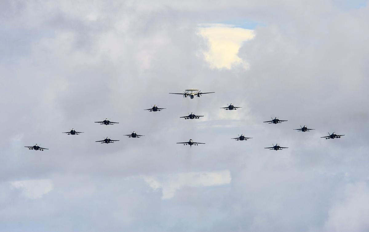 AWACS leads Formation
