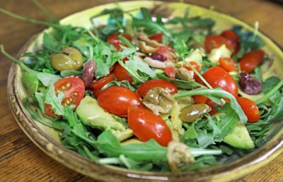 Tomato, Avocado and Olive Salad