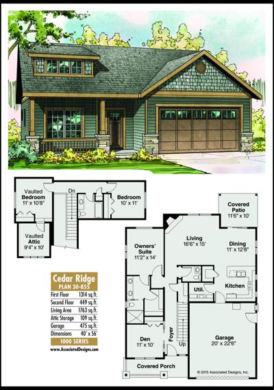 This week's house plan Cedar Ridge 30-855