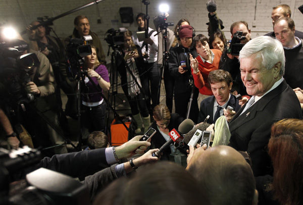 Attacks hurting Gingrich