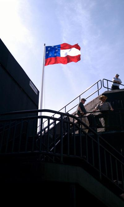Union forces surrender Fort Sumter