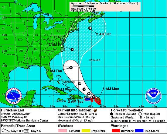 Earl batters Caribbean, threatens US East Coast
