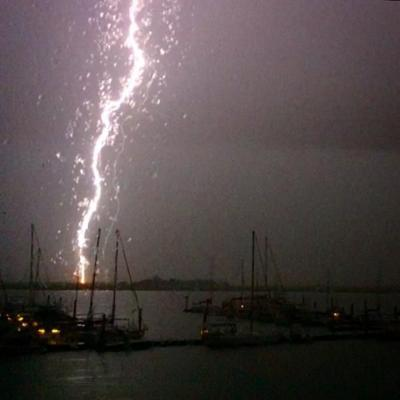Four lightning strikes reported on James Island