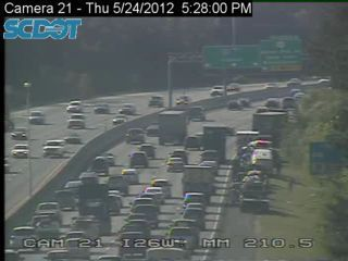 Traffic moving slowly on I-26 westbound after several wrecks