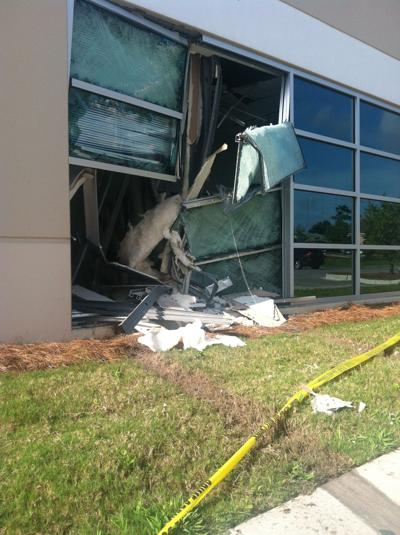 Driver rams into Remount Road office building several times