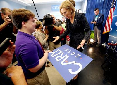 Carolina's on their minds Fiorina slams VA during Citadel stop, courts S.C. Chamber leaders