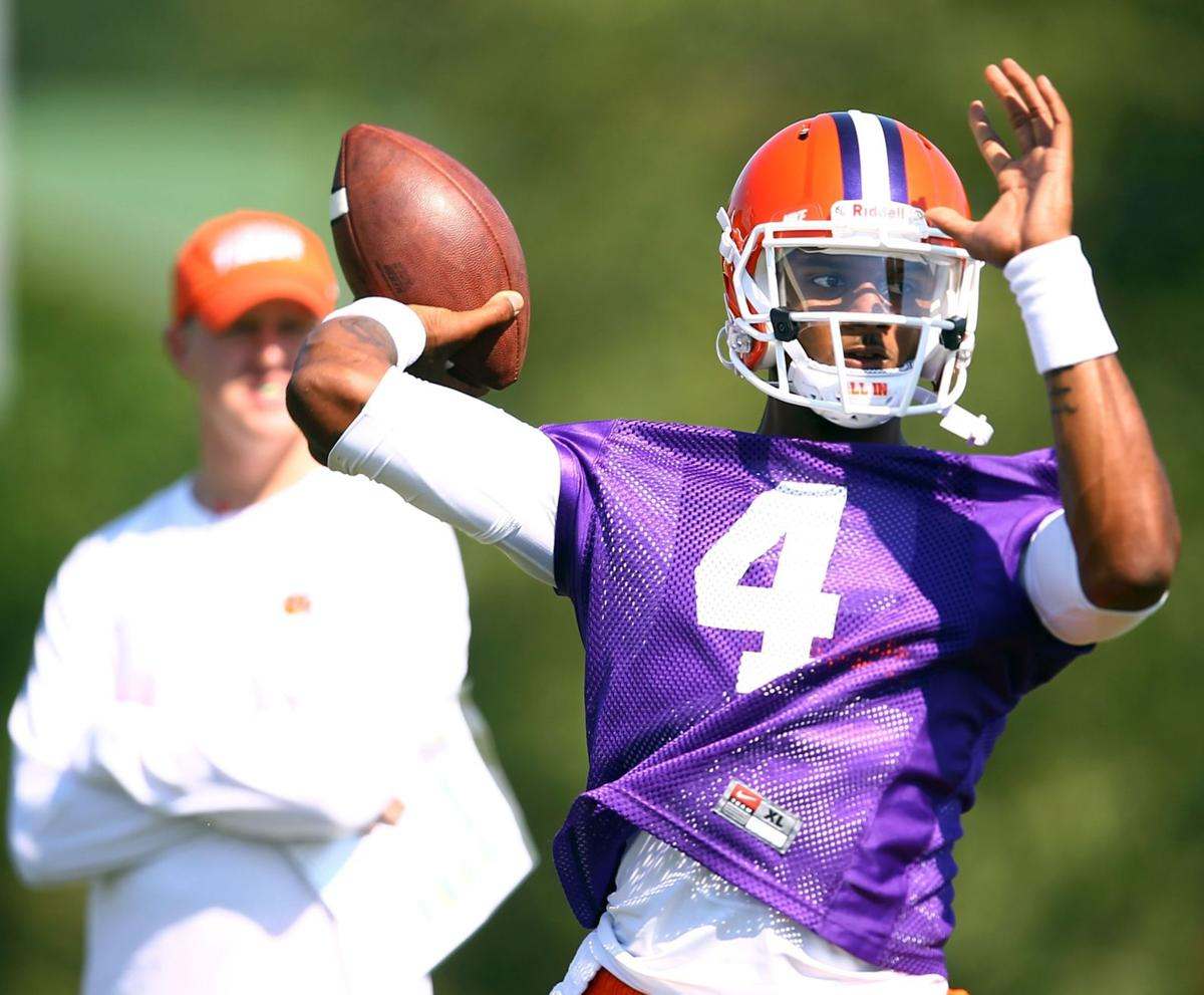 Clemson QB Watson eager for first spring game