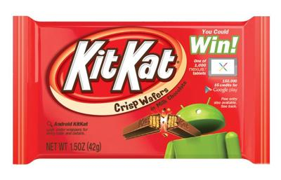 Gimme a break: Google's new Android system named 'KitKat'