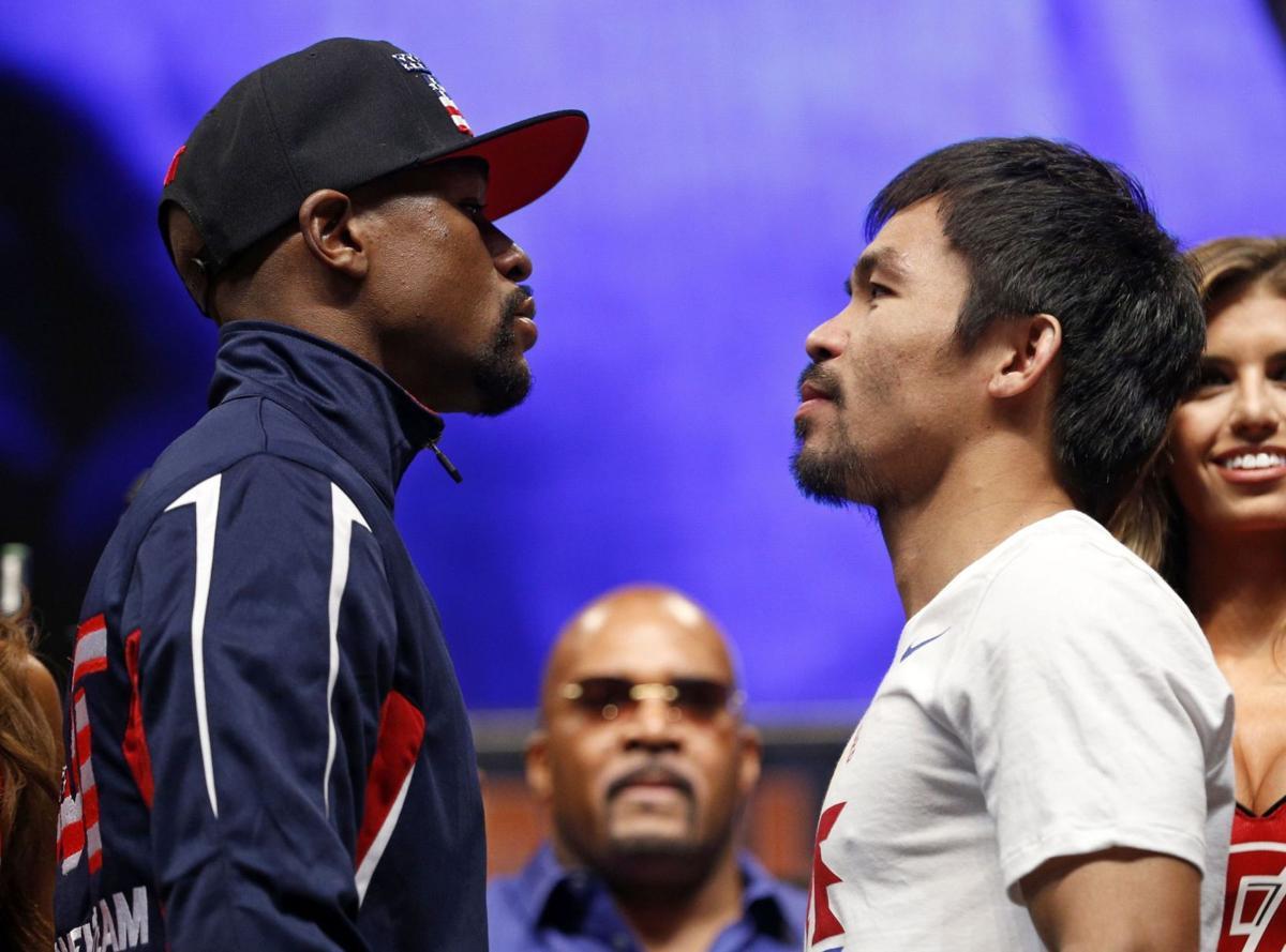BC-BOX--Mayweather-Pacquiao Matchup,829Just what kind of fight will Mayweather-Pacquiao be?AP Photo NVJL102, NVJL121, NVJL108, NVJL120