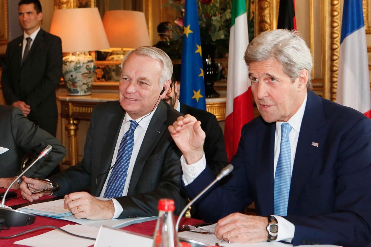 Kerry meets Europe's top diplomats
