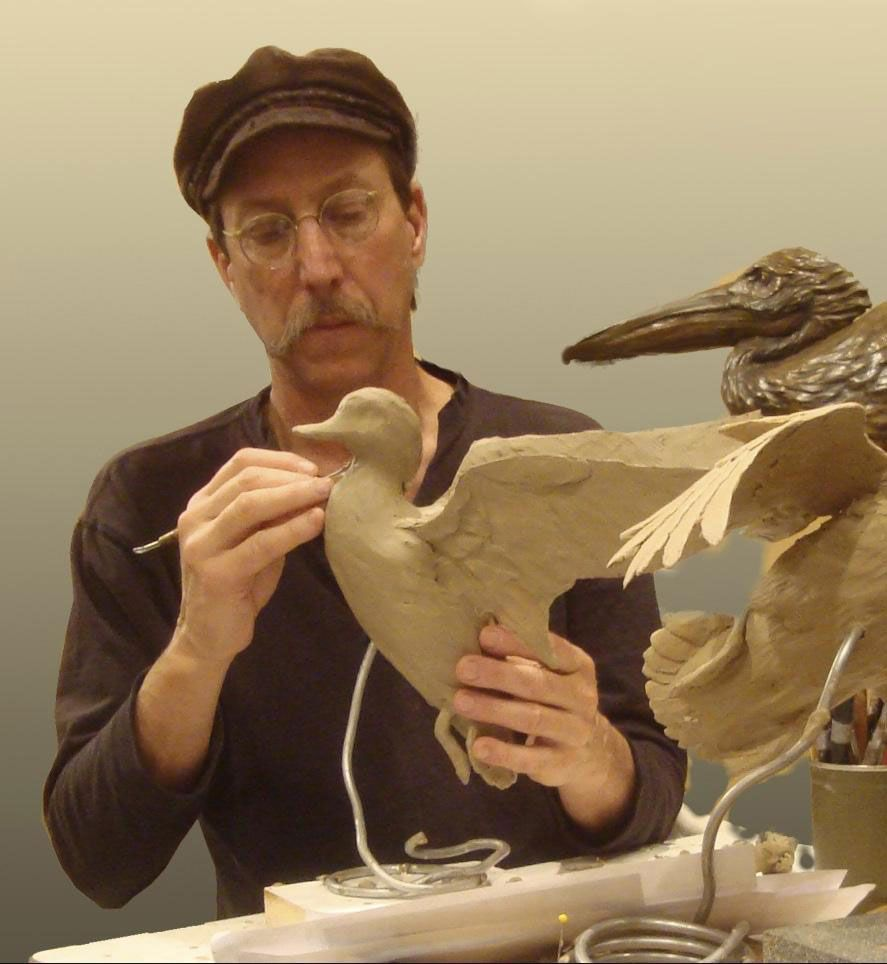 Flying high Sculptor Stefan Savides provides avian action to this year's SEWE