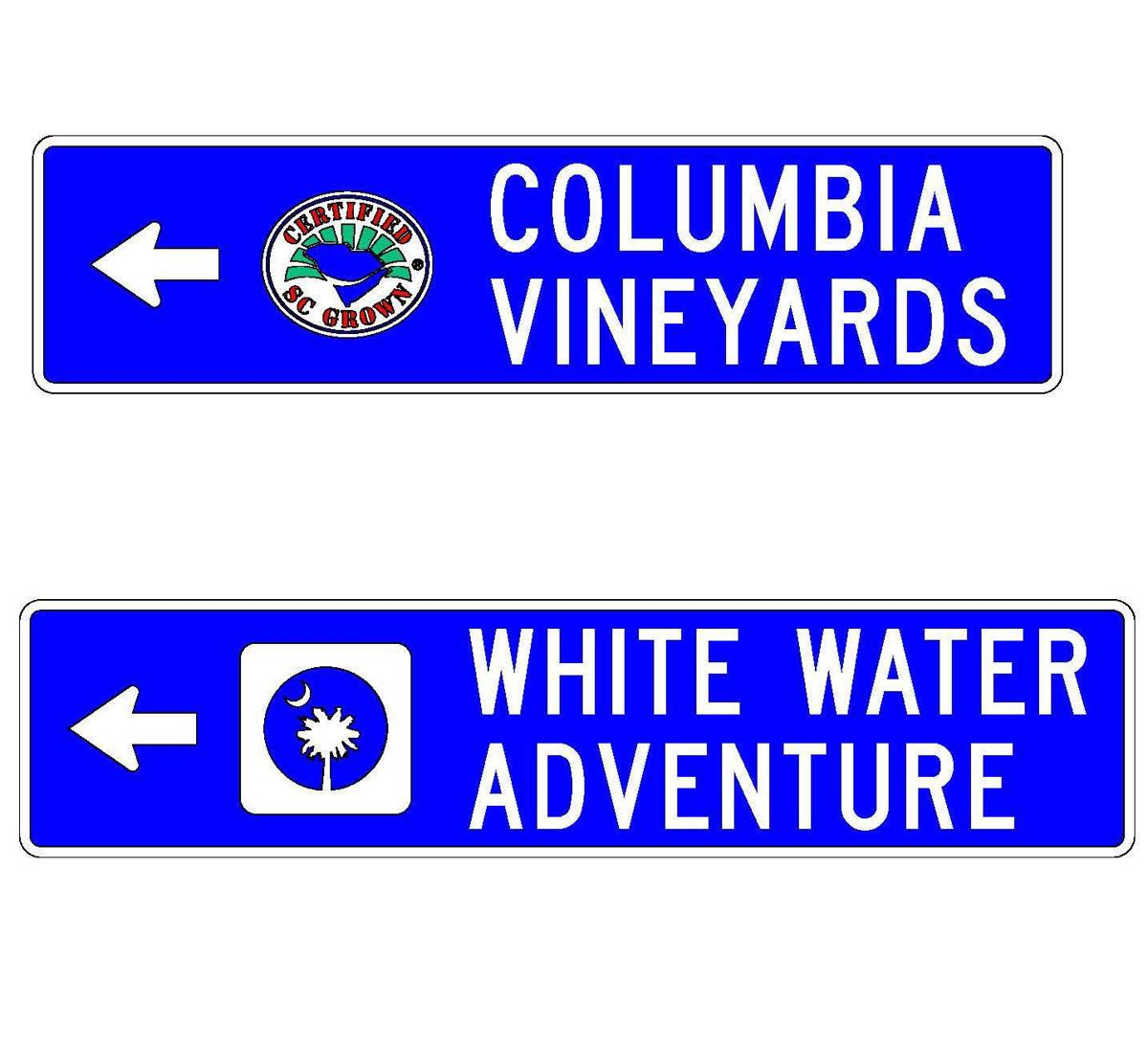 Signs to make it easier getting off SC beaten path