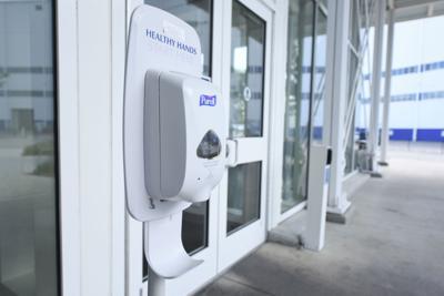 Boeing SC sanitizing stations
