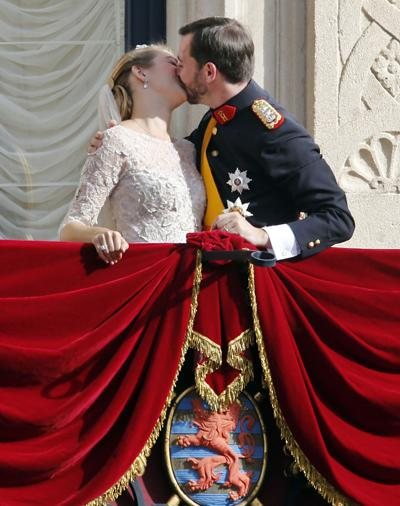 Luxembourg royal couple ties knot