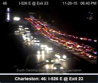 Westbound traffic stalled on I-526