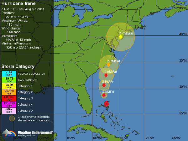 Navy orders warships in Virginia out of Irene's path