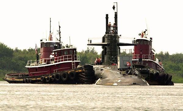 Submarine spotted in Charleston Harbor