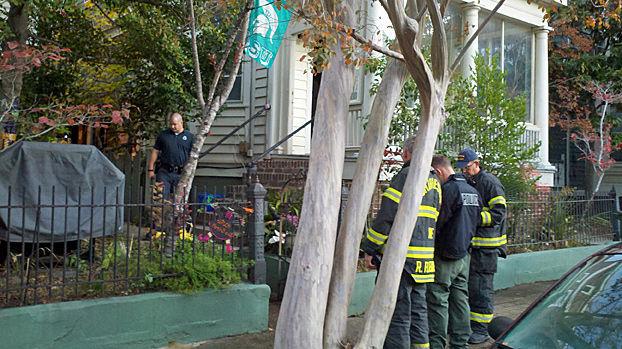 Fire damages porch on Montagu Street near Ashley Avenue