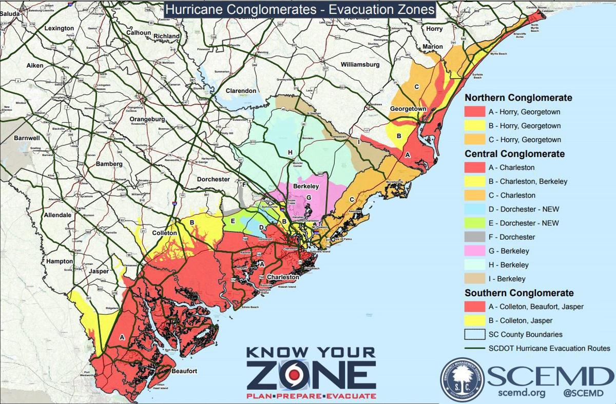 Hurricane evacuation zones