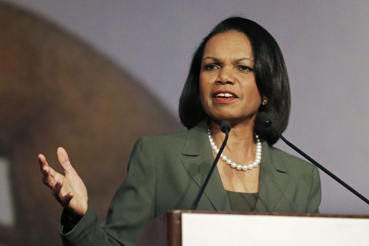 Former Secretary of State Condoleezza Rice stumps for Lindsey Graham