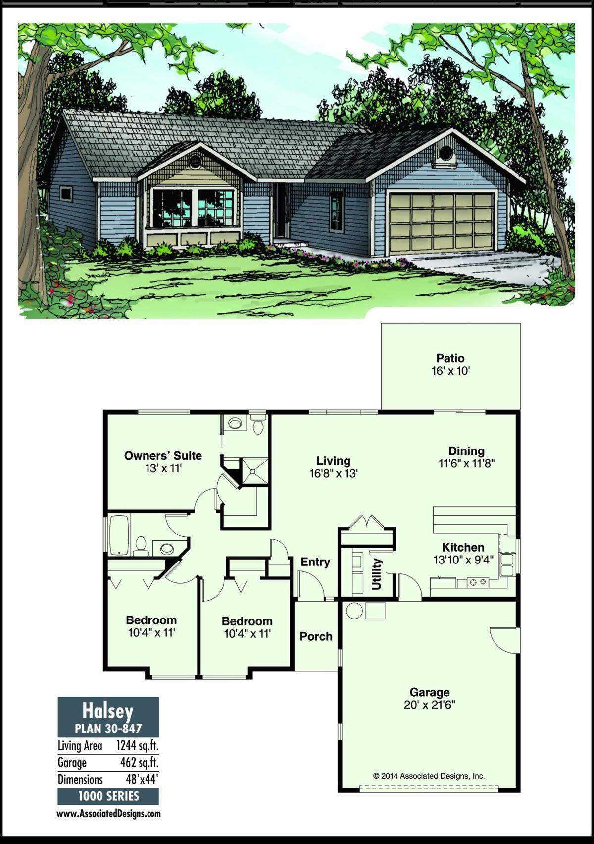 this weeks house plan halsey 30 847 - Halsey Garden