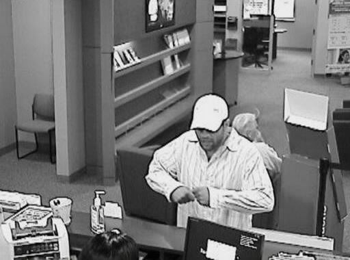 Bank robber seems to be driving up Interstate 95