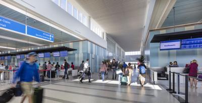 Charleston International Airport Check-in/TSA area (copy)