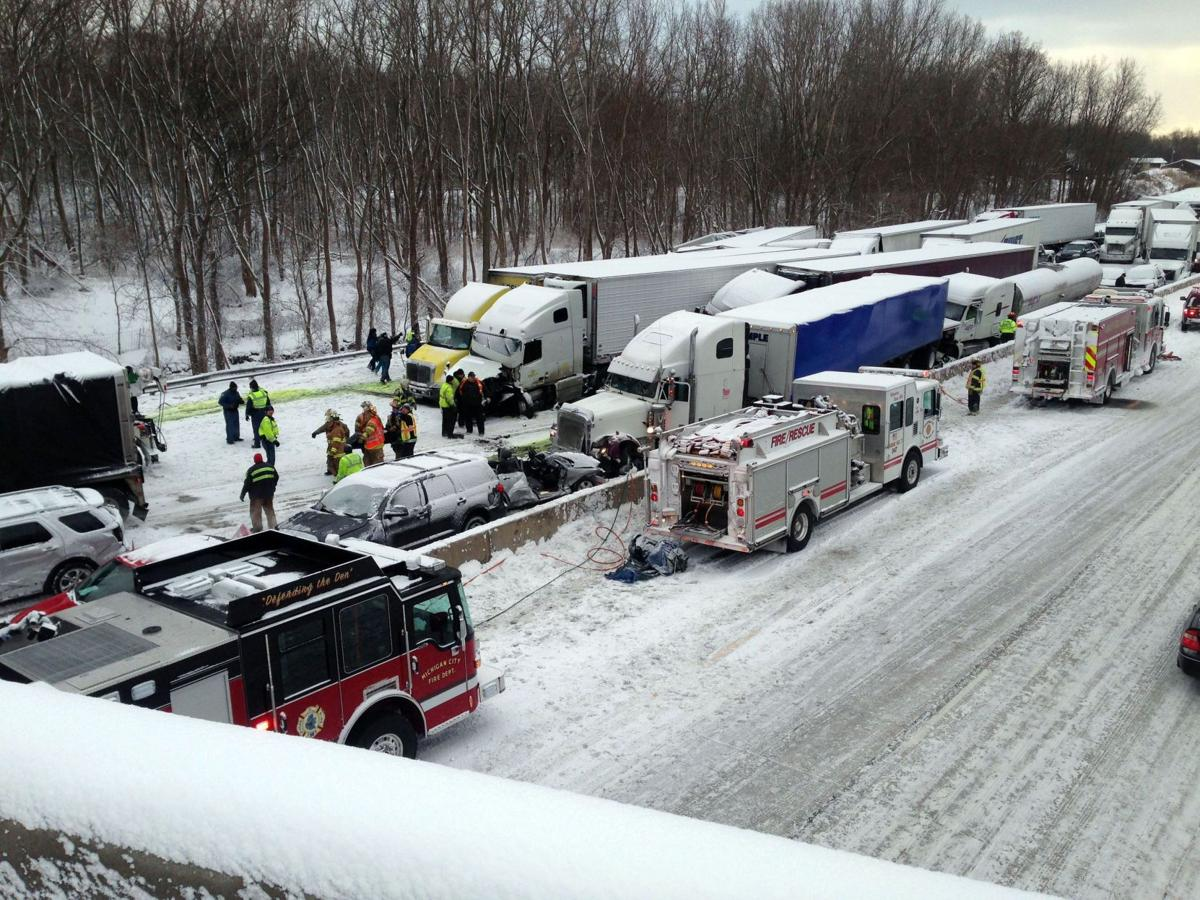 Massive pileup on I-94 in Indiana kills 3, more than 20 hurt (has video)