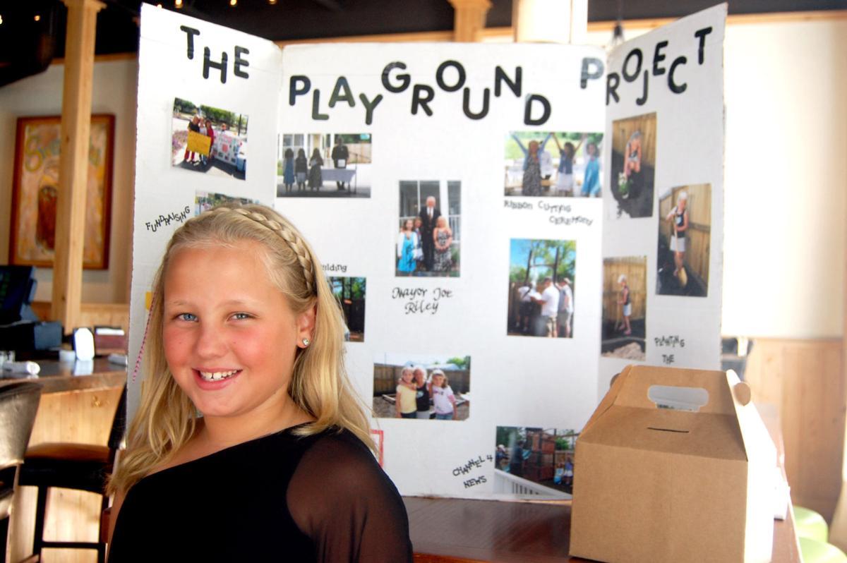 Girl's businesses help charities