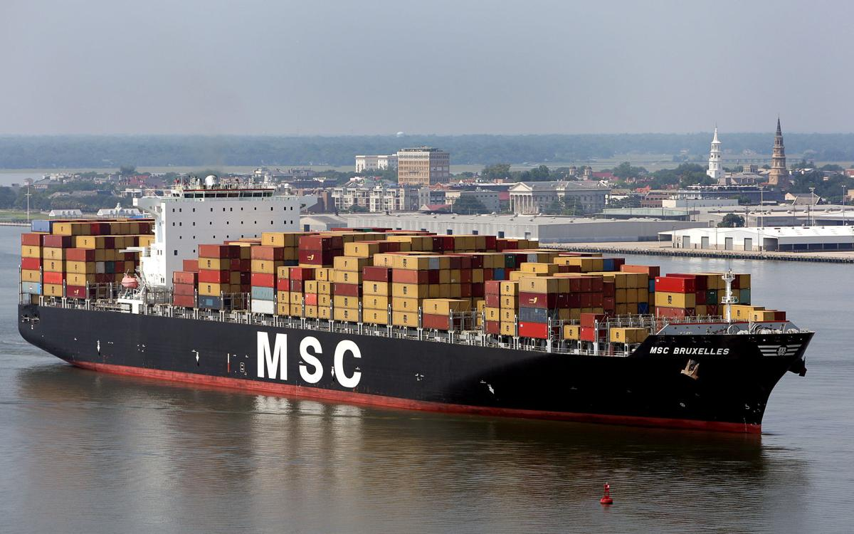 Charleston visited by its largest yet container ship Wednesday