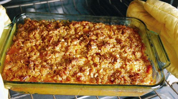 Giving thanks for Mom's Sweet Potato Casserole