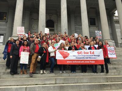 Teachers on Money Matters lobby day