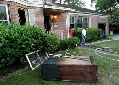 Ford home catches fire