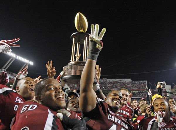 Still aglow after win over Tigers, Gamecocks have new goals to set