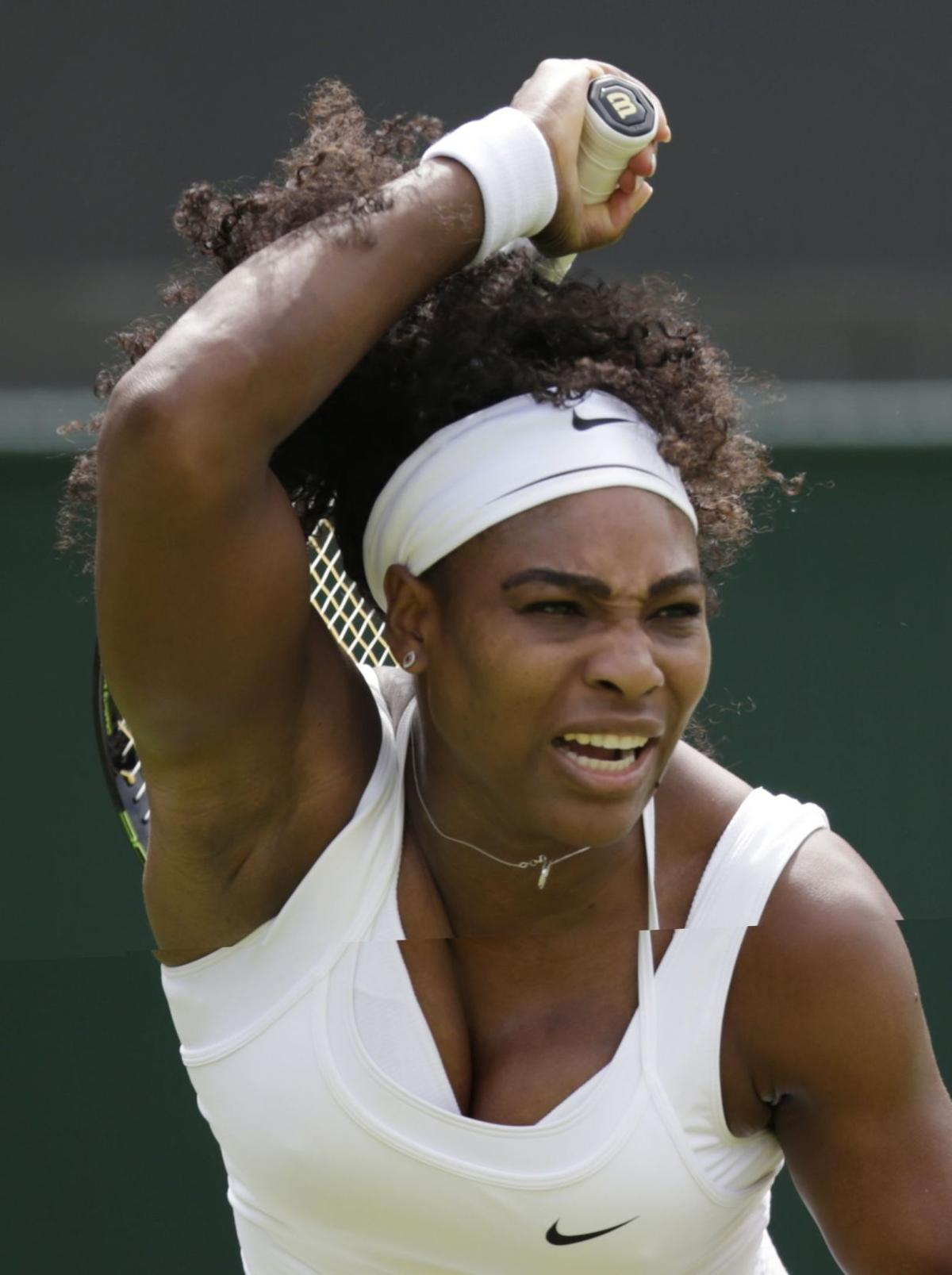 Serena earns win after slow start